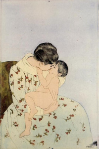 The Kiss, 1890-1891 Mary Cassatt